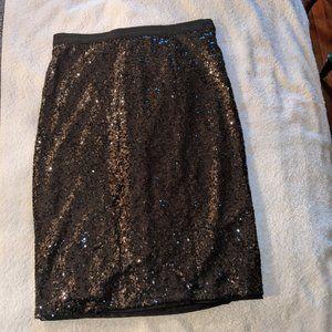 Imnyc full sequin skirt in Black